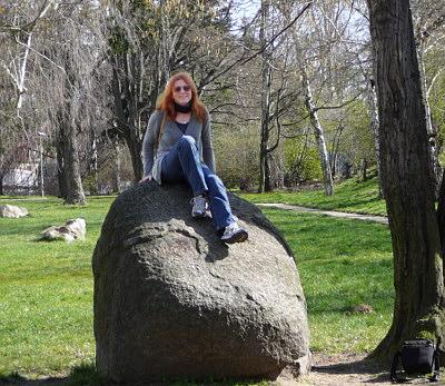 Irmgard auf dem Stein